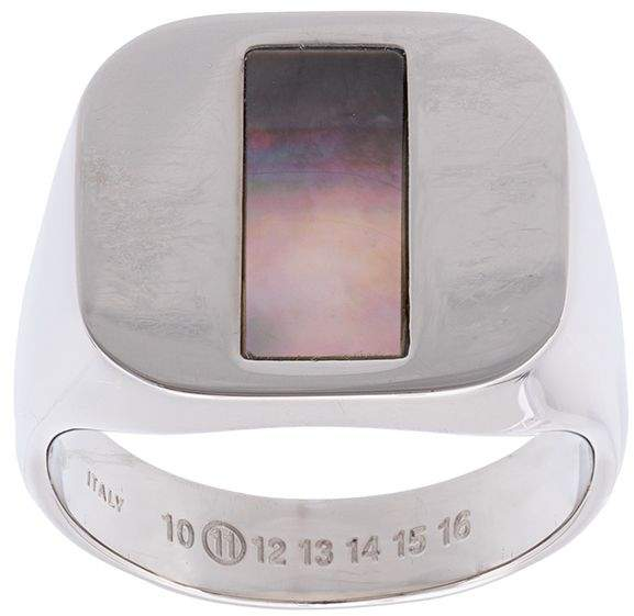 Maison Margiela silver chevalier ring