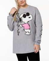 Hybrid Plus Size Snoopy Graphic-Print T-Shirt