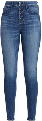 3x1 Poppy High-Rise Exposed Button-Fly Skinny Jeans