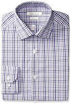 Perry Ellis Men's Slim-Fit Spread-Collar Tattersall Dress Shirt