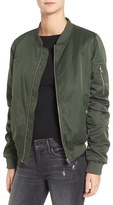 BB Dakota Women's Atwood Satin Bomber Jacket