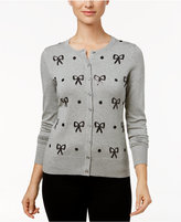 Charter Club Sequined Bow Cardigan, Only at Macy's