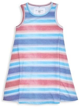 Sol Angeles Little Girl's & Girl's Striped Flounce Shirt Dress