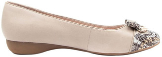 Supersoft By Diana Ferrari Epsom Flat Shoes Taupe Python