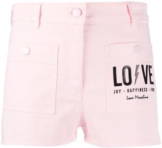 Love Moschino Logo Print Shorts
