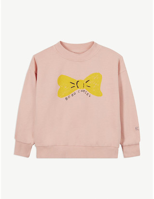 Bobo Choses Bow print cotton sweatshirt 4-11 years