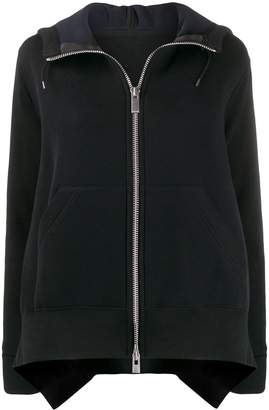 Sacai long sleeve zipped jumper