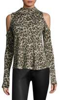 Generation Love Lena Leopard Cashmere Top