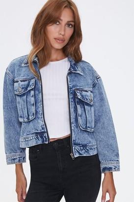 Forever 21 Zip-Front Denim Jacket
