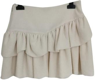 Maje Ecru Skirt for Women