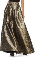 Jessica Howard Women's Pleated Metallic Ball Gown Skirt