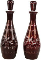 One Kings Lane Vintage French Decanters, Pair