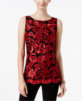 INC International Concepts Petite Embroidered Top, Only at Macy's