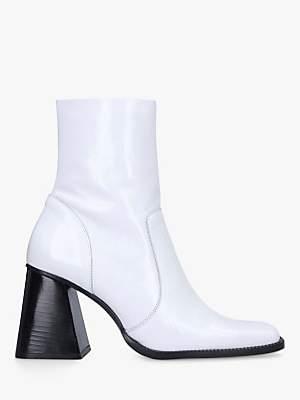 Kurt Geiger London Selma Leather Square Heel Ankle Boots
