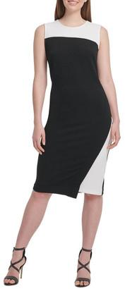 DKNY Sleeveless Colorblock Dress