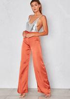 Missy Empire Ana Orange Wide Leg Satin Trousers