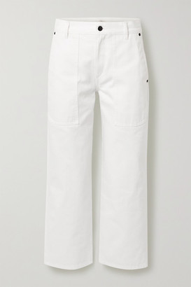 The Row Hester Cropped Mid-rise Straight-leg Jeans - White