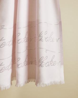Ted Baker ESTRELL Long lurex branded scarf