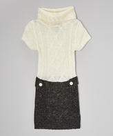 Dollhouse Cream & Black Sweater Dress - Infant