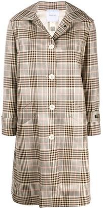 Patou Point Collar Check Coat