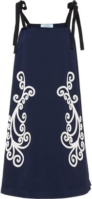 Prada Filigree Pattern Shift Dress