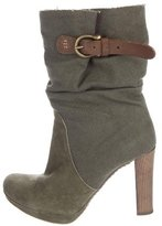 Henry Beguelin Suede & Canvas Ankle Boots