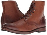 Frye Bowery Lace-Up (Cognac Antique Pull-Up) Men's Lace-up Boots