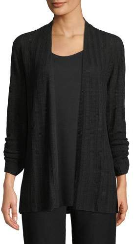 Eileen Fisher Fine Silk Bell-Sleeve Cardigan, Plus Size