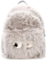 Anya Hindmarch furry face backpack - women - Leather/Acetate/Lamb Fur - One Size