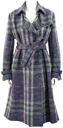 Burberry Purple Wool Coats