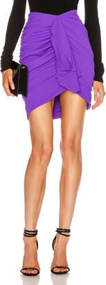 Redemption Draped Crepe Mini Skirt in Purple | FWRD