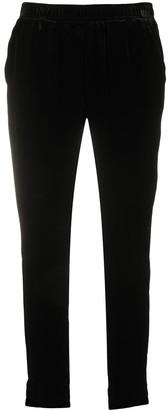 Gold Hawk Slim-Fit Velvet Trousers