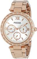Pulsar PP6104 Women's Stainless Rose Gold Bracelet Band Dial Watch