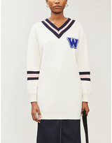 Selfridges Chocoolate Collage cotton-blend knitted jumper