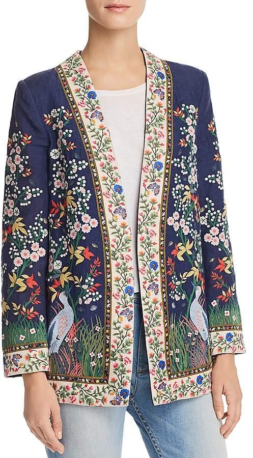 Alice + Olivia Jenice Embroidered Blazer