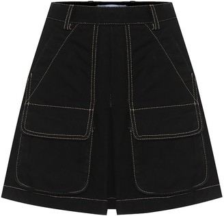 Matthew Adams Dolan Cotton-denim miniskirt