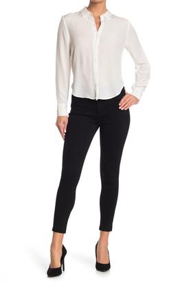 T Tahari Solid Ponte Ankle Crop Skinny Pants