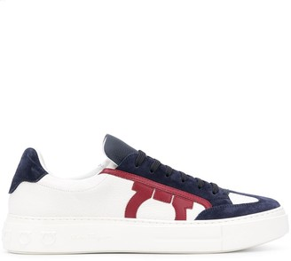 Salvatore Ferragamo Gancini low-top leather sneakers