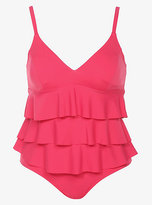 Torrid Fit 4 U - Coral Ruffled Tankini & Bikini Bottom Two-Piece Swim Set