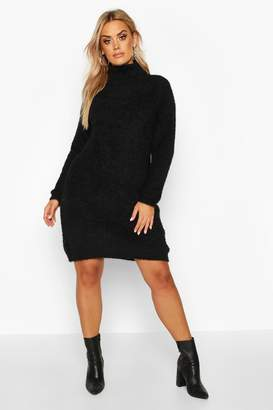 boohoo Plus Super Soft Knitted Mini Jumper Dress
