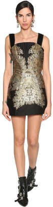 Etro Jacquard & Velvet Lame Corset Mini Dress