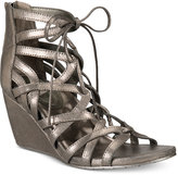 Kenneth Cole Reaction Women's Cake Pop Gladiator Lace-Up Wedge Sandals