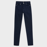 Paul Smith Women's Navy Brushed Denim High-Waisted Skinny Jeans