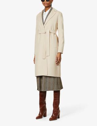 S Max Mara Pauline belted wool coat