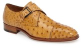 Mezlan Men's Cohen Ostrich Cap Toe Monk Shoe