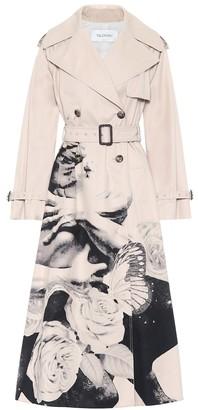 Valentino printed cotton trench coat