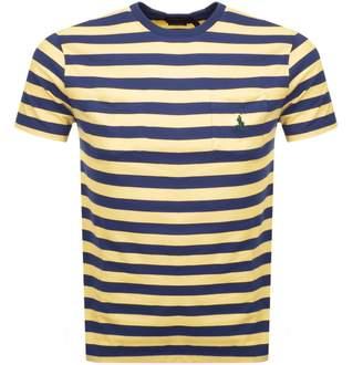 Ralph Lauren Stripe Pocket T Shirt Yellow
