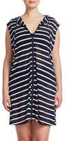 J Valdi Plus Striped Sleeveless Cover-Up