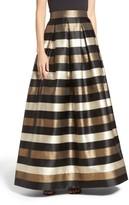 Eliza J Women's Metallic Stripe Ball Skirt