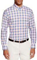 Tailorbyrd Orange Plaid Classic Fit Button Down Shirt